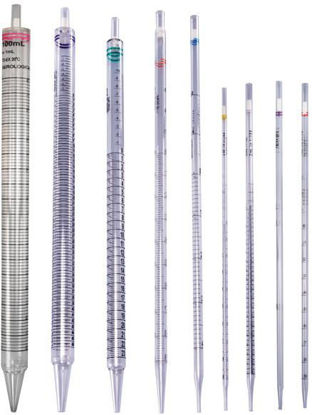 Picture of CS(200/cs) - PI-10W - 10 x 0.1 ml Economy Individually-Wrapped Disposable Sterile Plugged Wide-Tip Plastic Pipets (PI10W)