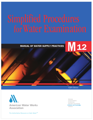 Picture of EA - BK-104 - Simplified Procedures for Water Examination, 5th Ed (BK104)