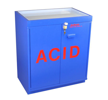 Picture of EA - SC-804 - Floor Partially-Lined Acid Storage Cabinet w/ Top Tray and Toe Space (SC804)