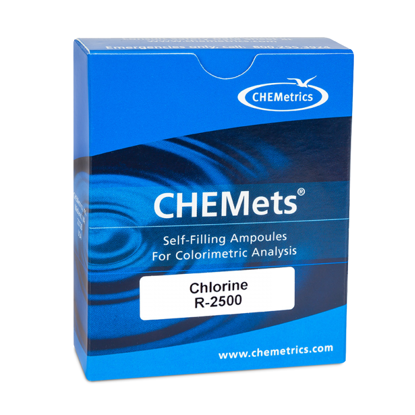 Picture of PK(30/pk) - CR-2500 - CHEMets® Chlorine, Free and Total, Refill Ampules (CR2500)