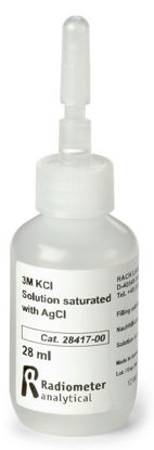 Picture of 28 ml - H-28417-00 - 3M KCl w/ AgCl, Silver Saturated, Fill Solution (H2841700)