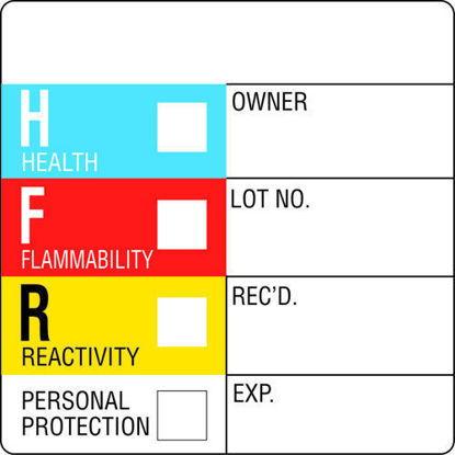 "Picture of RL(500/rl) - HL-160 - HFR Warning Labels, 2"" x 2"" (HL160)"