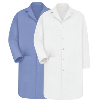 Picture of EA - LCB-M - Lab Coat, Light Blue, Size M (LCBM)