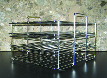 Picture of EA - BP-103 - Stainless Steel Petri Dish Rack for Water Baths (BP103)