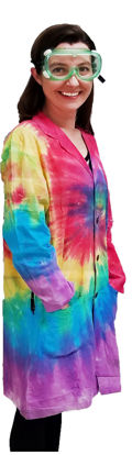 Picture of EA - LCT-L - Lab Coat, Tie-Dyed, Size L (LCTL)