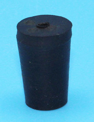 Picture of R-000A - Size 000 1-Hole Rubber Stopper (R000A)