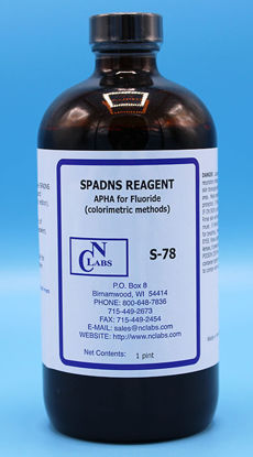 Picture of S-78 - SPADNS (Acid Zirconyl-SPADNS) Reagent, APHA for Fluoride (S78)