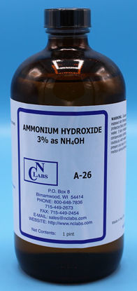 Picture of A-26 - Ammonium Hydroxide, 3% as NH₄OH (A26)