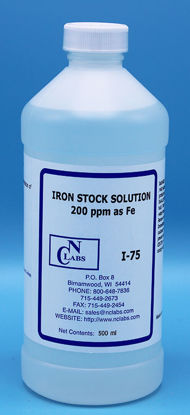 Picture of 500 ml - I-75 - Iron Stock Solution, 200 ppm as Fe, APHA for Iron (I75)