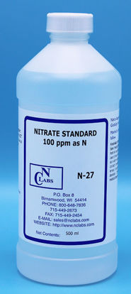 Picture of N-27 - Nitrate Standard, 100 ppm as N (N27)