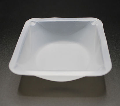 "Picture of PK(500/pk) - WB-350 - Square Plastic Weighing Boats, 3½"" x 3½"" x ¾"" Deep (WB350)"