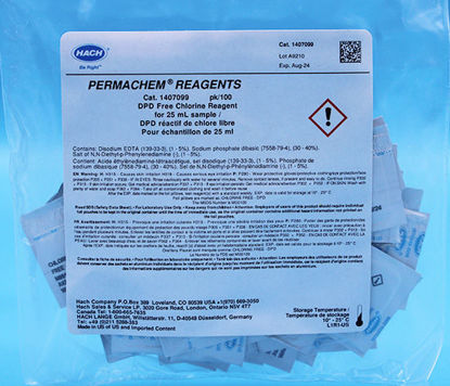Picture of PK(100/pk) - H-14070-99 - DPD, Chlorine, Free, PP for 25 ml Sample (H1407099)