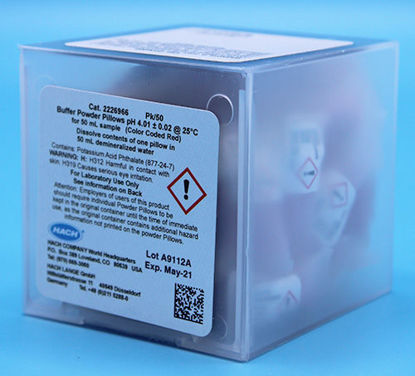 Picture of PK(50/pk) - H-22269-66 - pH Buffer PP, pH 4.01, Red-Coded, for 50 ml Sample (H2226966)