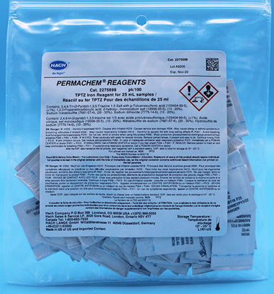 Picture of PK(100/pk) - H-22756-99 - TPTZ Iron Reagent PP for 25 ml Sample (H2275699)