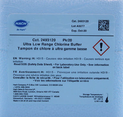 Picture of PK(20/pk) - H-24931-20 - Chlorine Buffer, ULR, 2-500 µg/l, in 1.5 ml Ampules (H2493120)