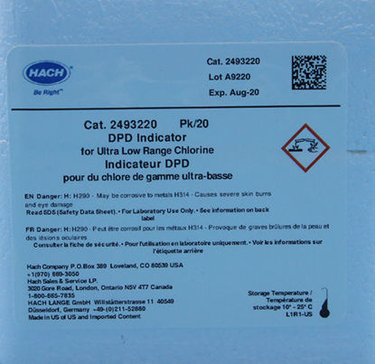 Picture of PK(20/pk) - H-24932-20 - DPD, Chlorine, Indicator Solution, ULR, 2-500 μg/l, in 1.5 ml Ampules (H2493220)