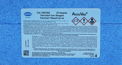 Picture of PK(25/pk) - H-25070-25 - Iron, Total, Reagent, FerroVer®, in AccuVac® Ampules (H2507025)