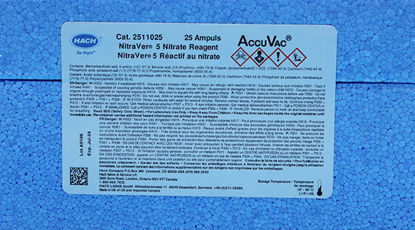 Picture of PK(25/pk) - H-25110-25 - Nitrate Reagent, NitraVer® 5, in AccuVac® Ampules (H2511025)