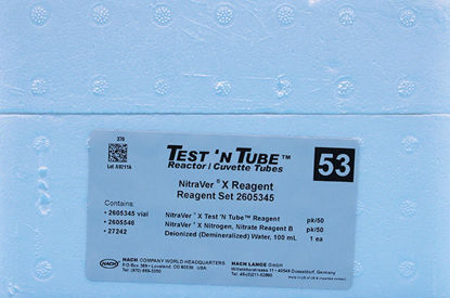 Picture of PK(50/pk) - H-26053-45 - Nitrogen-Nitrate, NitraVer® X, TNT Reagent Set, HR, 0.2-30.0 mg/l (H2605345)
