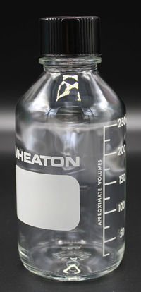 Picture of BW-250 - 250 ml Dilution Bottle w/ Rubber-Lined Cap (BW250)