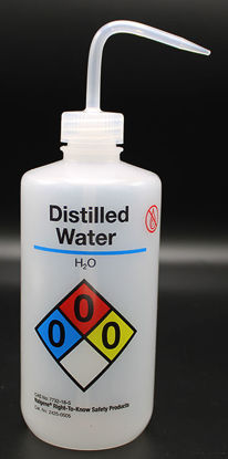 "Picture of BN-711DI - 500 ml Right-to-Know Wash Bottle, Labeled ""Distilled Water"" (BN711DI)"