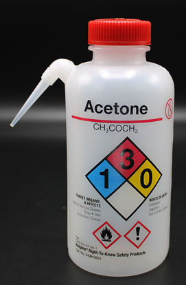 "Picture of BN-711AC - 500 ml Right-to-Know Wash Bottle, Labeled ""Acetone"" (BN711AC)"