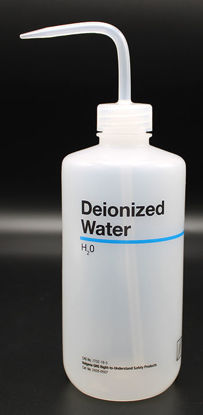 "Picture of BN-711DE - 500 ml Right-to-Know Wash Bottle, Labeled ""Deionized Water"" (BN711DE)"