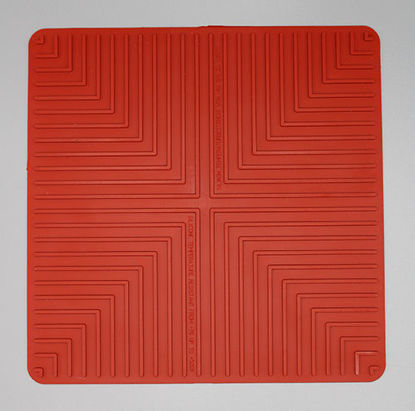 "Picture of EA - MR-250 - 10"" x 10"" Red Lab Safety Mat (MR250)"