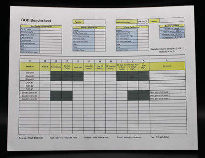 "Picture of EA - BOD-440 - BOD Benchsheet Notepad, 50 Sheets, 11"" x 8.5"" (BOD440)"