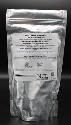 Picture of PK(50/pk) - NCL-880 - M-FC Broth w/o Rosolic Acid in Plastic Ampules (NCL880)