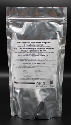 Picture of PK(50/pk) - NCL-882 - M-FC Broth w/ Rosolic Acid in Plastic Ampules (NCL882)