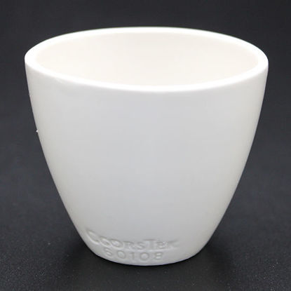 Picture of CC-520 - Coors #60108 Solid Bottom Porcelain Crucible (CC520)