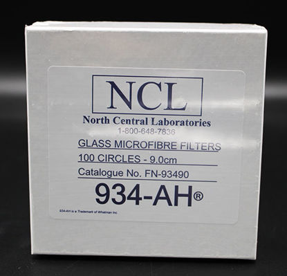 Picture of PK(100/pk) - FN-93490 - 9.0 cm NCL Grade 934-AH® Glass Fiber Filters (FN93490)