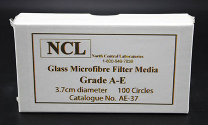 Picture of PK(100/pk) - AE-37 - 3.7 cm NCL Grade A-E Glass Microfiber Filters (AE37)
