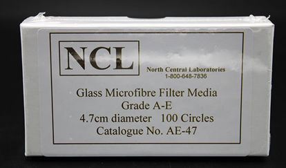 Picture of PK(100/pk) - AE-47 - 4.7 cm NCL Grade A-E Glass Microfiber Filters (AE47)