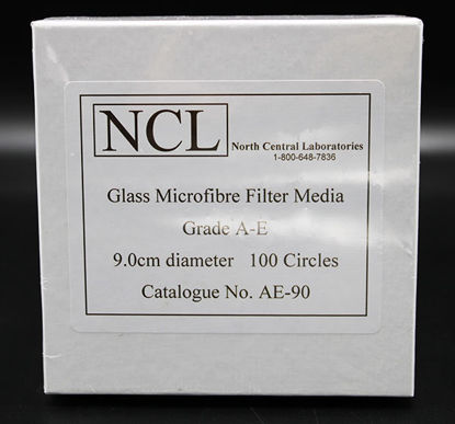 Picture of PK(100/pk) - AE-90 - 9.0 cm NCL Grade A-E Glass Microfiber Filters (AE90)