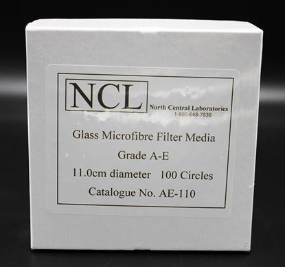 Picture of PK(100/pk) - AE-110 - 11.0 cm NCL Grade A-E Glass Microfiber Filters (AE110)