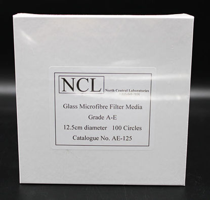 Picture of PK(100/pk) - AE-125 - 12.5 cm NCL Grade A-E Glass Microfiber Filters (AE125)