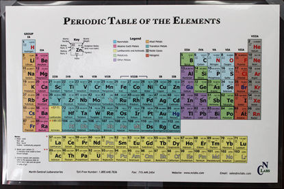 """Picture of EA - PT-109 - Periodic Table of Elements, 11"""" x 17"""" (PT109)"""