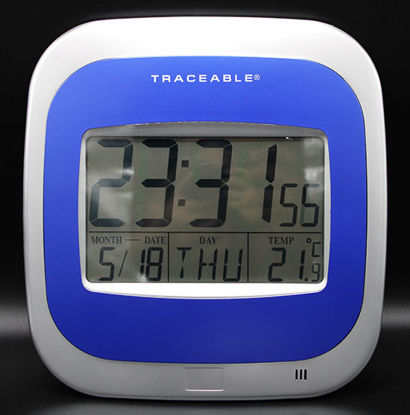 Picture of EA - CC-666 - Digital Wall Clock w/ Date and Temperature, NIST (CC666)