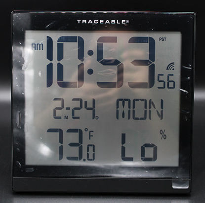Picture of EA - CC-076 - Digital Atomic Wall Clock w/ Date and Temperature (CC076)