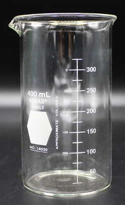 Picture of BK-370T - 400 ml Tall-Form Glass Beaker, Kimax (BK370T)