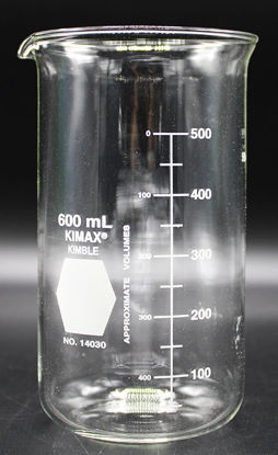 Picture of BK-390T - 600 ml Tall-Form Glass Beaker, Kimax (BK390T)