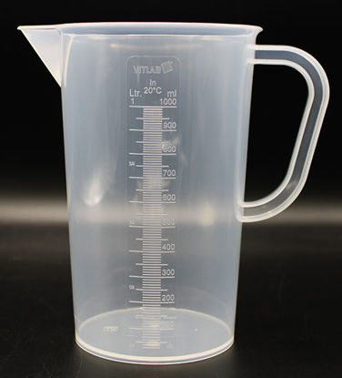 Picture of B-510 - 1000 ml Plastic Beaker w/ Handle (B510)