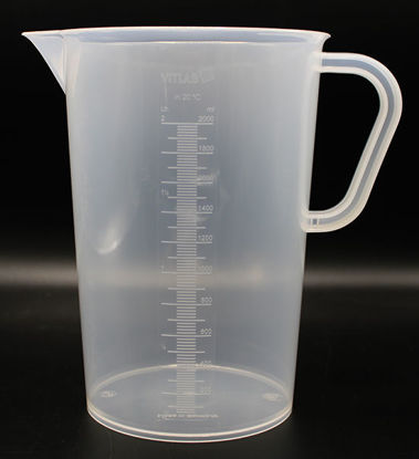 Picture of B-511 - 2000 ml Plastic Beaker w/ Handle (B511)