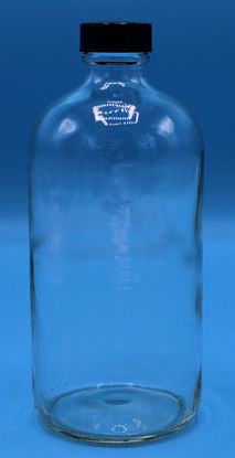 Picture of B-611F - 16 oz Clear Narrow-Mouth Glass Bottle w/ Polyseal Cap (B611F)