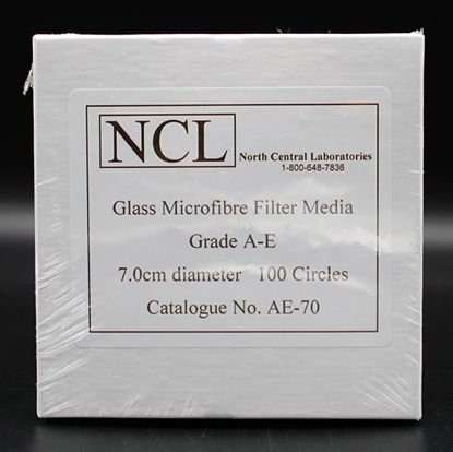 Picture of PK(100/pk) - AE-70 - 7.0 cm NCL Grade A-E Glass Microfiber Filters (AE70)