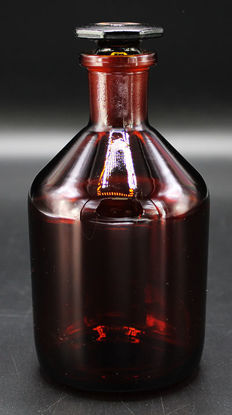Picture of BW-25A - 250 cc Amber Narrow-Mourth Reagent Bottle w/ Ground-Glass Stopper (BW25A)