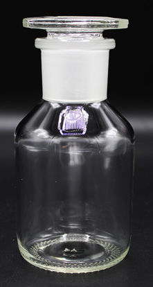 Picture of BW-25 - 250 cc Clear Wide-Mouth Glass Bottle w/ Ground-Glass Stopper (BW25)