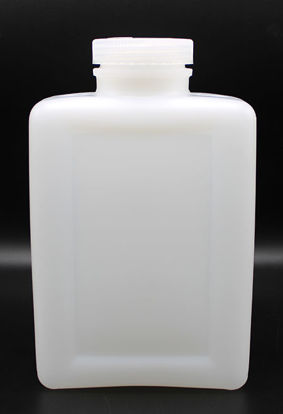 Picture of BN-734 - 2000 ml Wide-Mouth Rectangular HDPE Bottle (BN734)